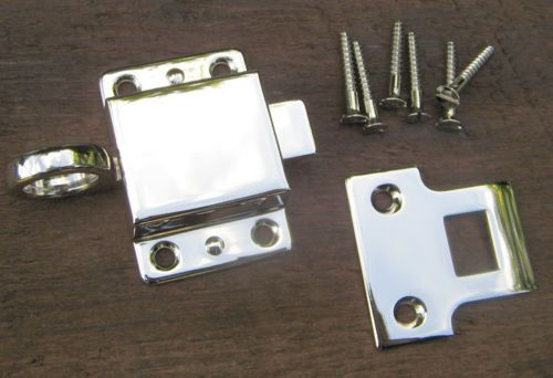 Solid Brass Reproduction Transom Window Latch ( Polished Nickel)
