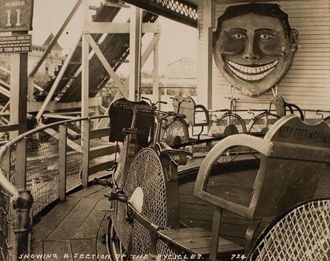 Steeplechase Bicycle Ride, c. 1925 Coney Island, New York