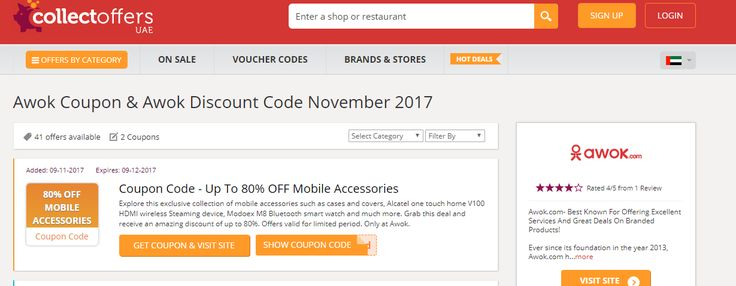Explore this exclusive collection of #mobileaccessories such as cases and covers, Alcatel one touch #home V100 HDMI #wireless Steaming device, Modoex M8 Bluetooth smart watch and much more. Grab this deal and receive an amazing #discount of up to 80%. Offers valid for limited period. Only at #Awok.  #DiscountCodes #VoucherCodes #PromoCodes #CouponCodes #UAE #Dubai