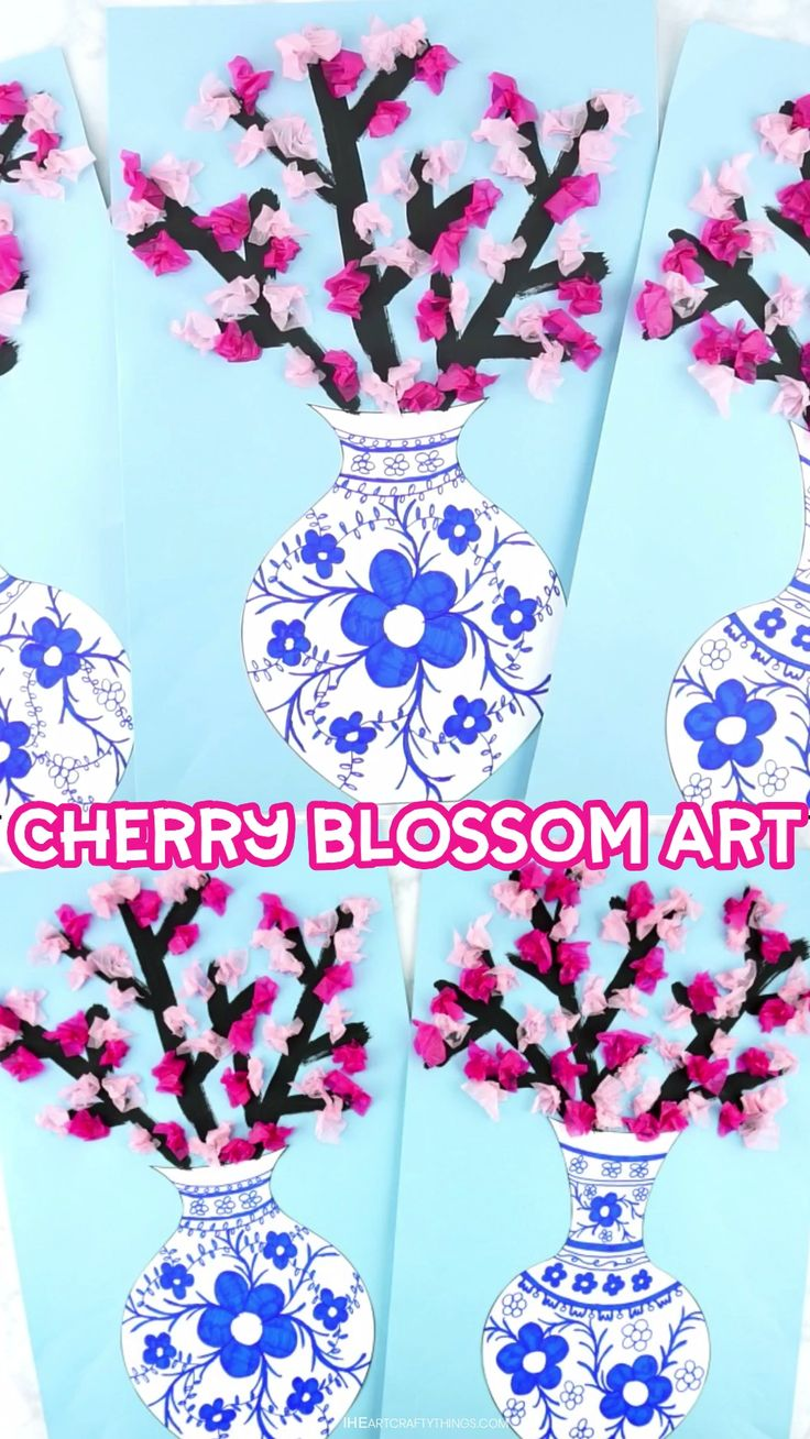 How to Make a Cherry Blossom Art Project – I Heart Crafty Things