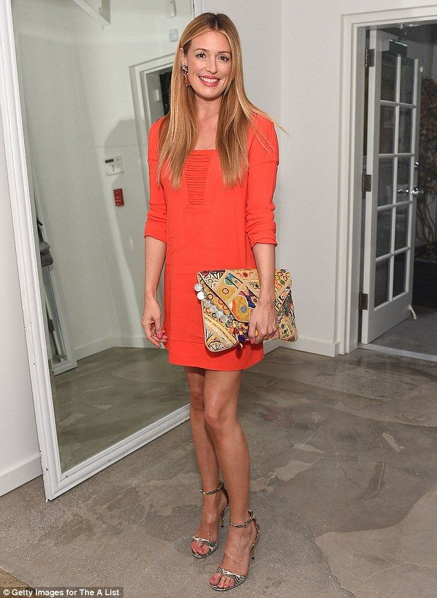 Tangerine dream: Cat Deeley was mingling with the great and good of Hollywood as she attended The A-List 15th Anniversary Party in Beverly Hills on Tuesday night