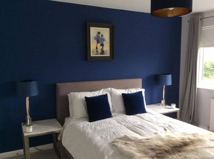 You can still use blue in a north-facing room drenched in cooler sunlight. Just keep in mind that muted, soft blues may turn out looking dull or gray. Choose a warm, mid-tone blue that's more vibrant than what you may be used to. Farrow & Ball Drawing Room Blue
