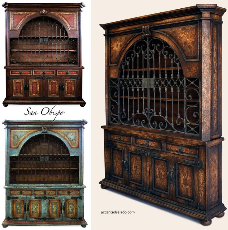 Old World Tuscan Furniture.. Obispo Dining Room Hutch at Accents of Salado. We ship nationwide.