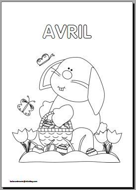 Coloriages mois de l 39 ann e en maternelle a t l charger et - Coloriage mois d avril ...