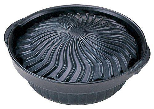 【楽天市場】萬古焼 ジンギスカン鍋 ブラック 07183:ドンキマーケット
