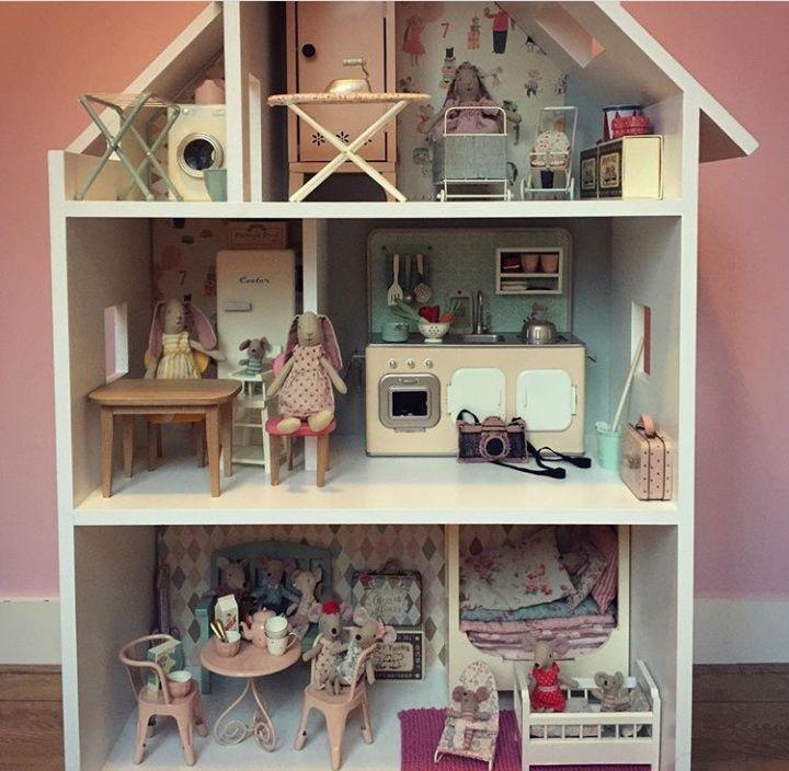 50% prijs verschillende kleuren redelijk geprijsd Maileg poppenhuis Maileg dollhouse Maileg house Mailegworld ...