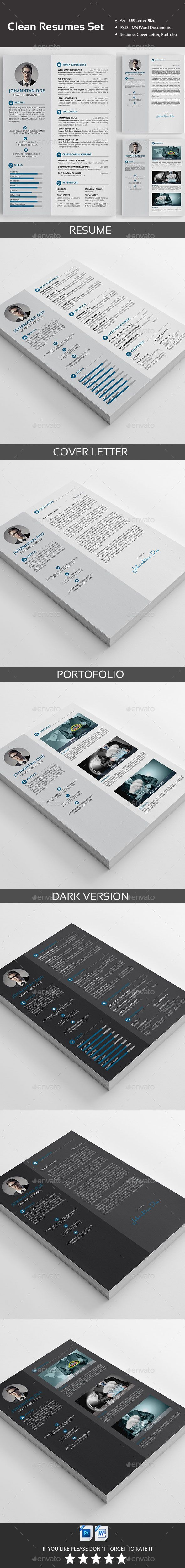 A Clean and Sharp Resume Template. You can show your professionalism only with a Clean and Sharp Resume.