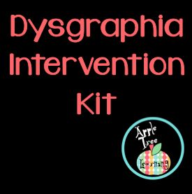 6 common symptoms of dysgraphia;  Dysgraphia Intervention Kit, RTI, Special Education, SPED  #SPED #dysgraphia Apple Tree Learning
