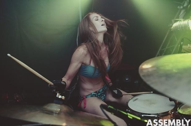Jade Neebe, Johannesburg -   Obsessed with drums, Jade is the live drummer for Jack Parow. Every moment is a bikini moment for Jade and when you see her next, she'd like to tell you a joke about gingers in porn.    Follow her on Twitter: @jadedrummer