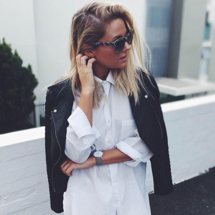 miann scanlan larsson jennings leather jacket cabin cove white shirt minimalist surf style street blogger fashion