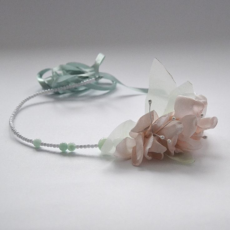 head wreath hand made  and dyed flowers , natural jade  http://www.lucjazajac.com https://www.facebook.com/lucjazajacatelier