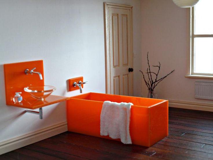 modern dollhouse bathroom elf vibrant acrylic vanity and tub