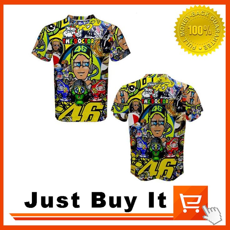 Желтый Цвет 2016 Новый Врач футболки МОТО ГП № 46 Валентино Росси Мотоцикл одежды гоночных 100% хлопок Повседневная рубашка