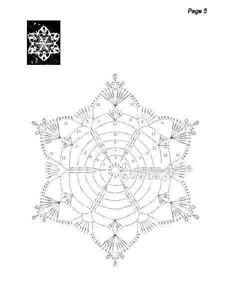 snowflakes crochet 211 schema 4