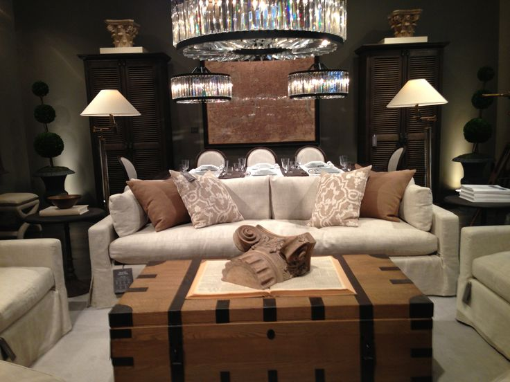 Restoration Hardware Living Room Inspiration