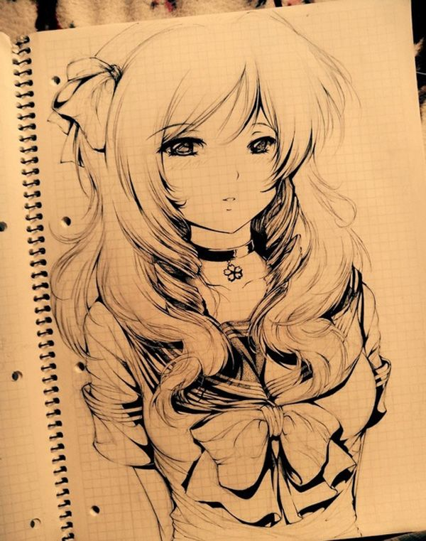 55 Beautiful Anime Drawings | Cuded...Another Fab Drawing!