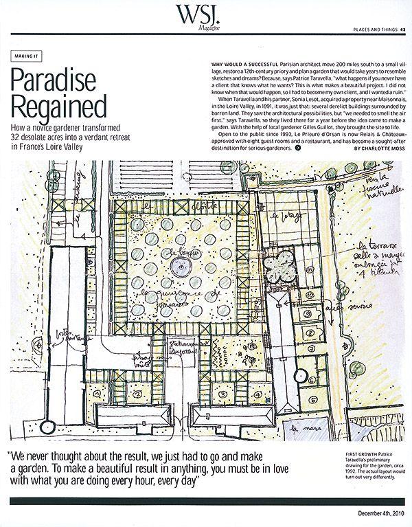 garden plans for Villa Ursinus-  Wall Street Journal Magazine -