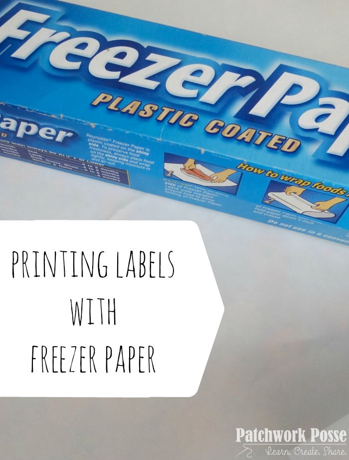 How to use Freezer Paper to Print on Fabric - what a great idea!  I have a few ideas on what else I can use this for.