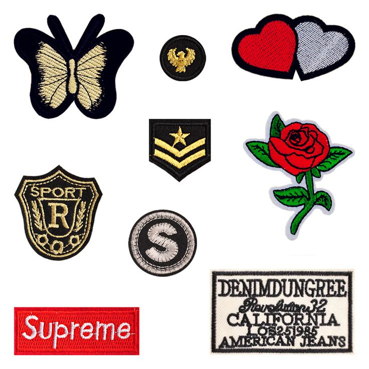 1 PCS Cloth Butterfly Stickers for Clothes Free Shipping Rose Patches for Clothing Decoration Parches Bordados Applique