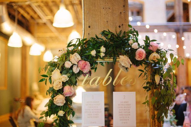Salt Lake Hardware Building Wedding flower garland table garland