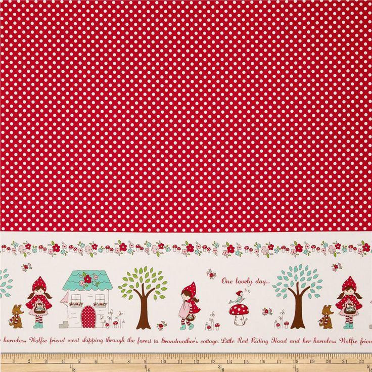 Riley Blake Little Red Riding Hood Little Border Red