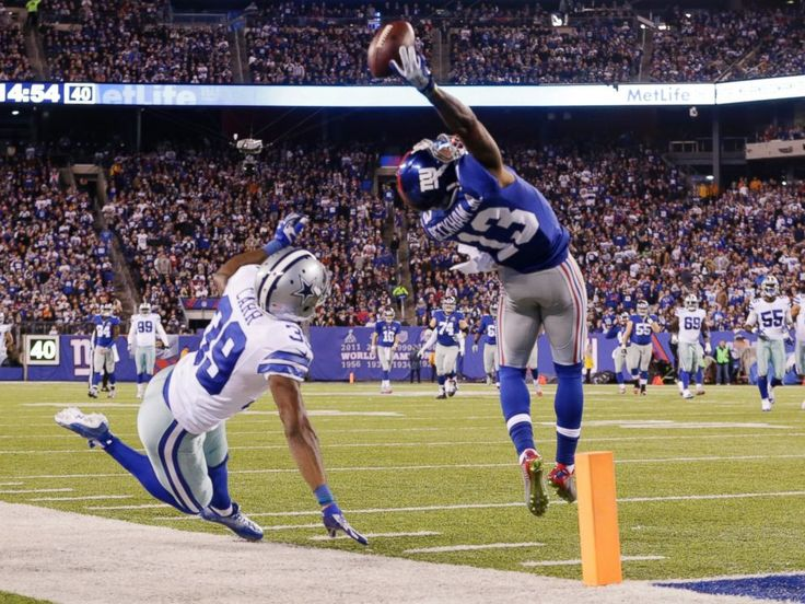 N.Y. Giants rookie wide receiver Odell Beckham Jr. Made One of the Greatest Football Catches Ever