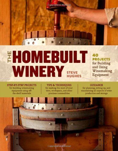 Get your home winery going with this book! I have an old press & crusher that I got off craigslist for a very fair price.