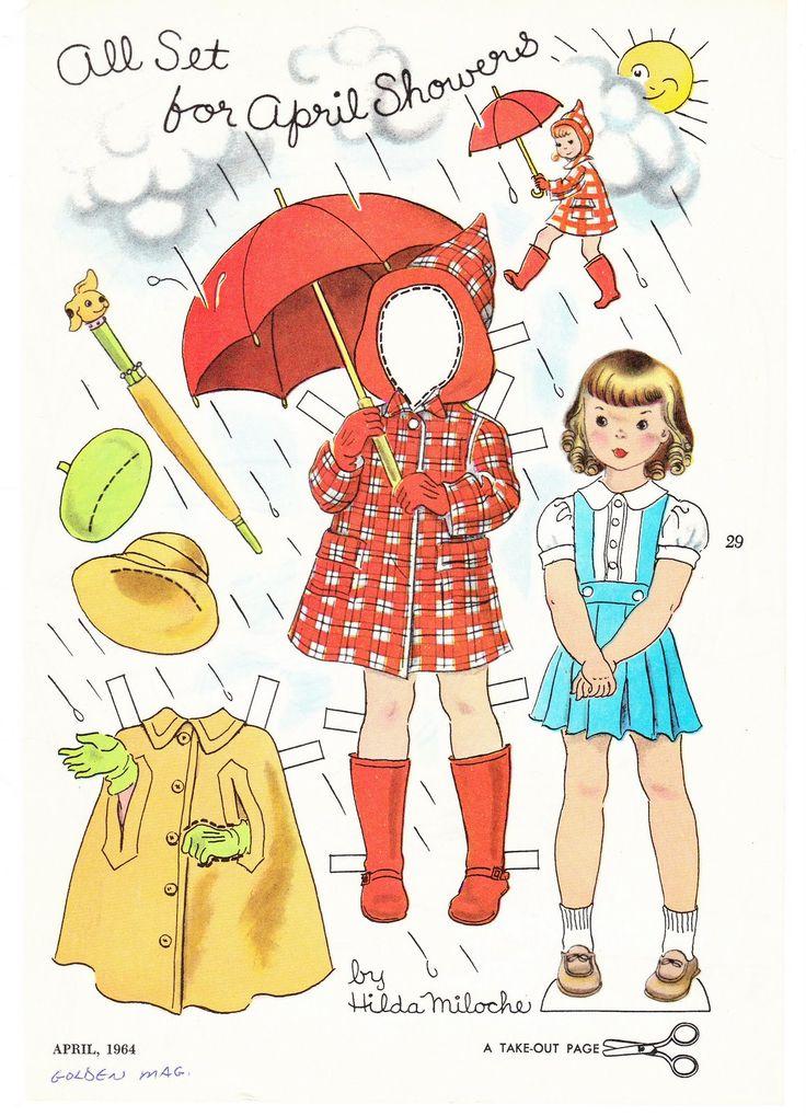 Картинки бумажных кукол с осенней одеждой