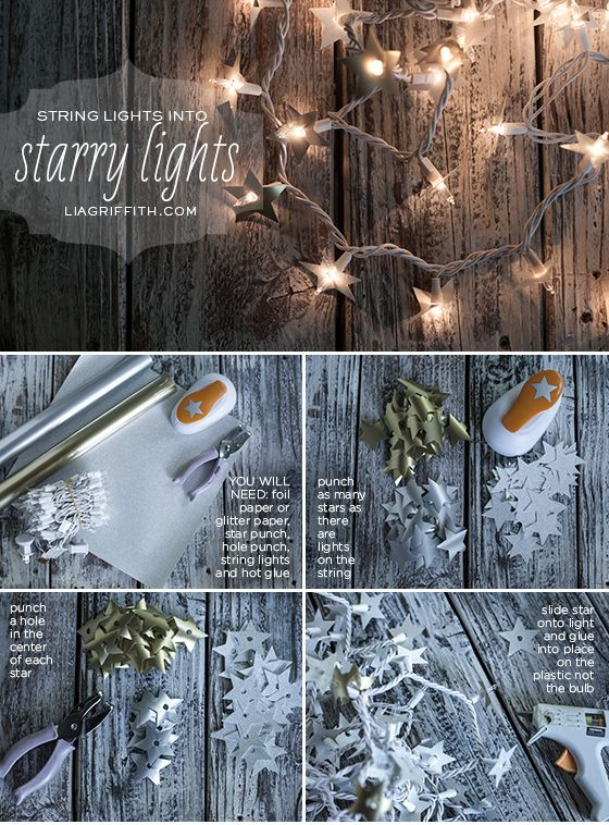Starry Lights for Starry Nights [Another How-To from Lia Griffiths. So easy but they look fantastic strung outdoors or indoors with a voile canopy or curtain — 03-07-13]