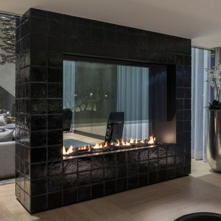1000 Ideas About Double Sided Fireplace On Pinterest