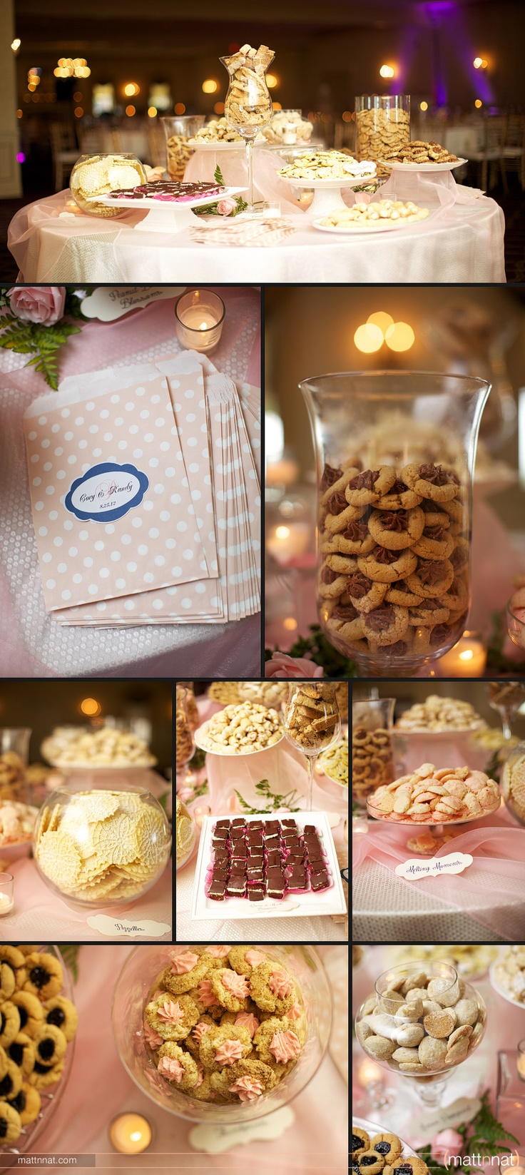 Cookie table for wedding reception... i guess this is a Pittsburgh tradition. family and friends of the bride & groom bake tons of cookies for the wedding reception... its like christmas!! what a cool idea :)