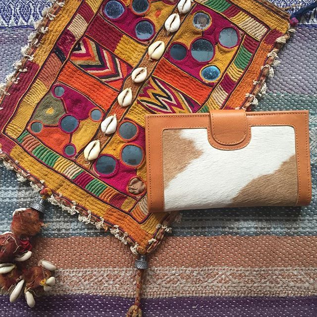{ g u t h r i e } the pattern on this Guthrie calf hair wallet are insane!