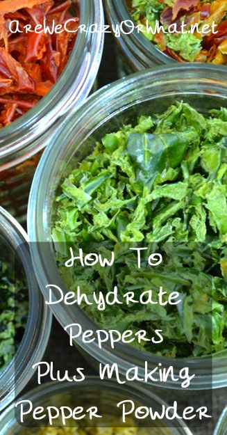 Step by step instructions for dehydrating peppers plus how to make pepper powder. #beselfreliant
