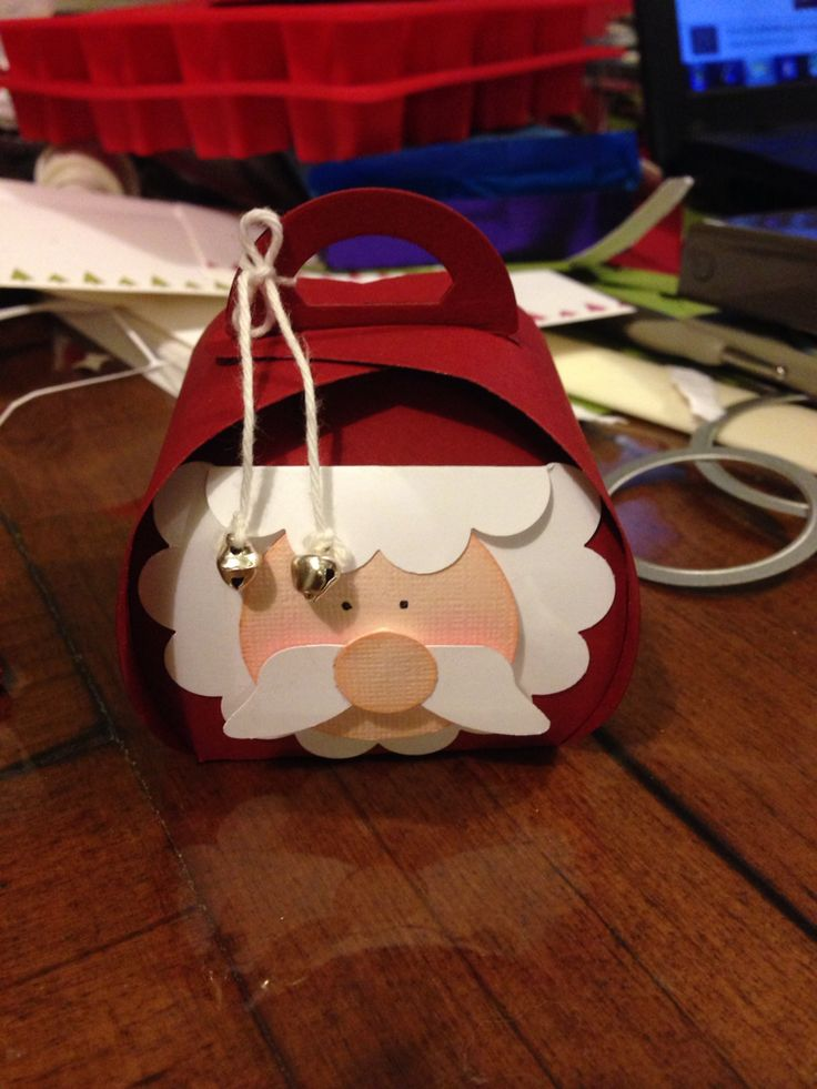 STAMPIN UP Curvy Keepsake Box - Santa