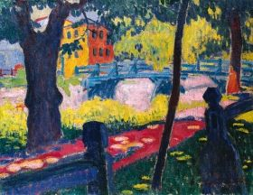 Ziffer Sándor - Régi nagybányai híd, 1908