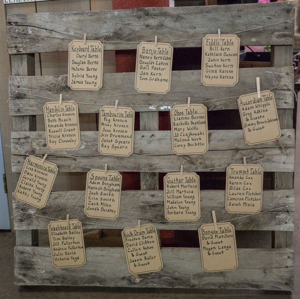 Rustic Wedding Seating Chart Ideas: A Musically Inspired Wedding At The Museum Of Appalachia
