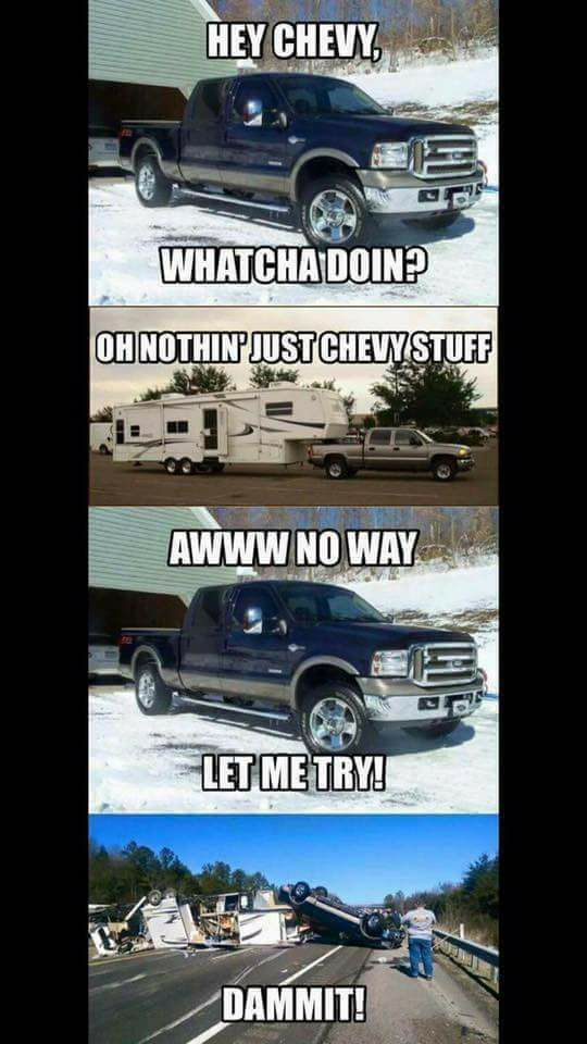 "Lifted Chevy Trucks For Sale >> I present the ""i hate fords fan page."" : terriblefacebookmemes 