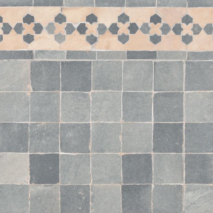 Ann Sacks Idris 2 X Terra Cotta Mosaic In Grey Chine And Marrakech