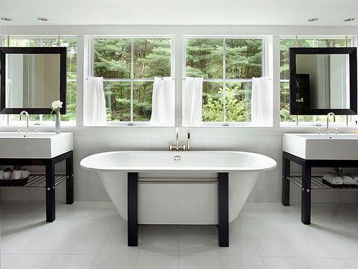 Черно-белый Ванные: элегантный и вневременной тренд