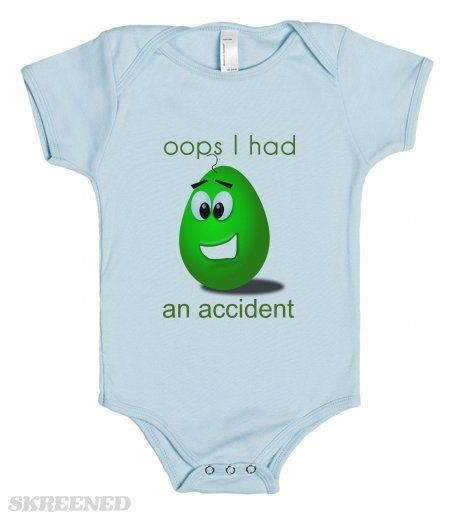 oops I had an accident t shirt - baby one piece tees