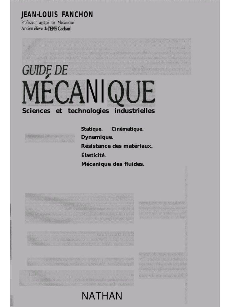 Fichier PDF Guide de Mécanique_Fanchon.pdf en 2019