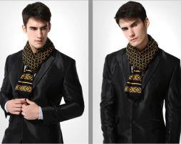 Kvalitný pánsky bavlnený šál - Vzor 11