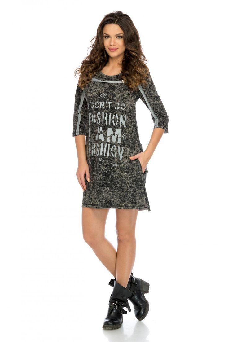 Rochie Fashion Neagra 219 lei Rochie casual