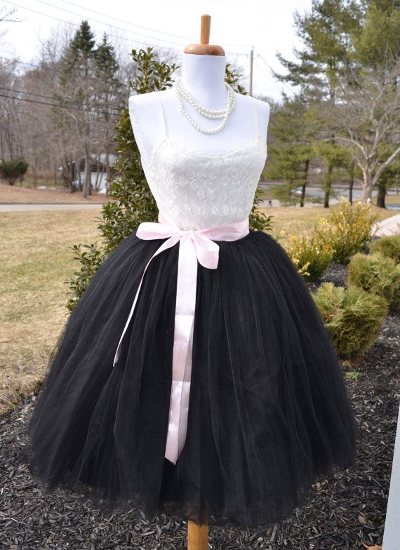 Womens Tutu Black Tulle skirt tulle skirt by MaidenLaneBoutique
