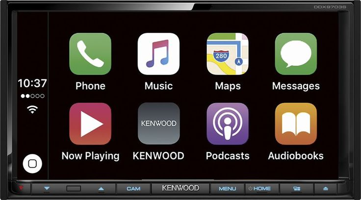 "Kenwood - 6.95"" - Android Auto/Apple CarPlay™ - Built-in Bluetooth - In-Dash CD/DVD/DM Receiver - Black"