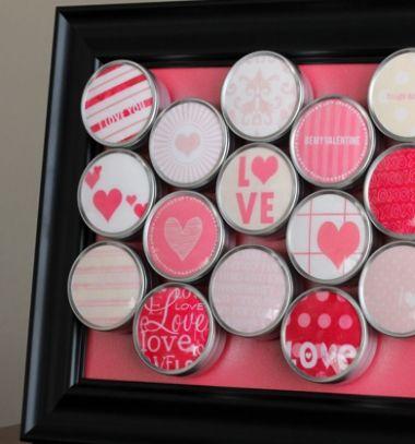 Valentine's day tin can countdown - romantic gift idea // Minden napra egy meglepetés - romantikus ajándék fém dobozkákból // Mindy - craft tutorial collection // #crafts #DIY #craftTutorial #tutorial