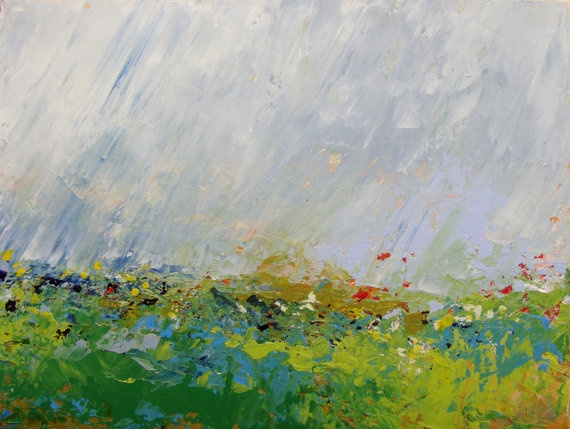 Abstract Landscape  acrylic painting on canvas  size by SallyKelly, $60.00