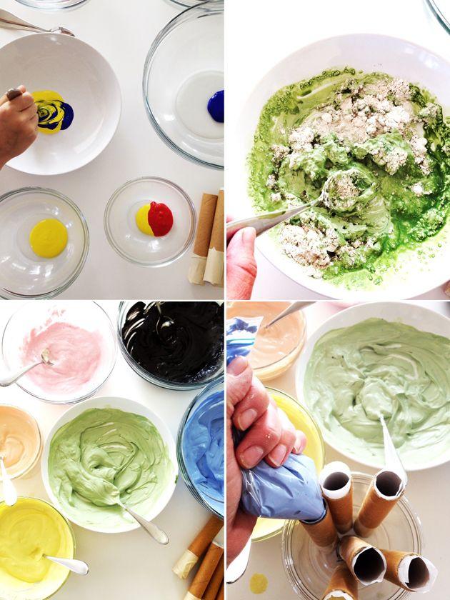 Maak je eigen stoepkrijt via het recept op Playful Learning via Veetje.be