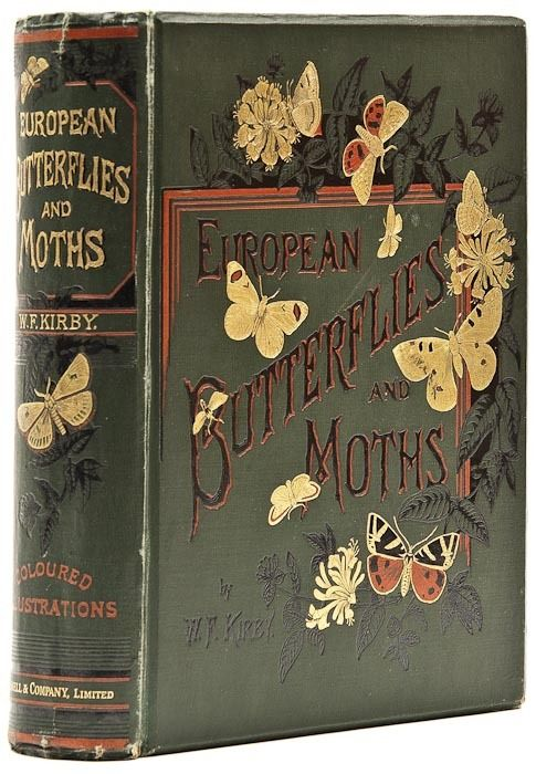 European Butterflies and Moths, by William F. Kirby. 1898. Cloth pictorial…