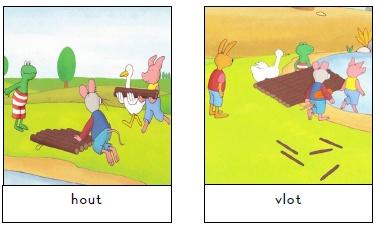 woordkaarten Kikker en de warme dag